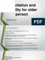 O and M for Older Persons