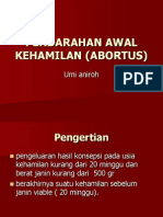 Perdarahan Awal Kehamilan (Abortus)