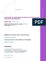Weathering Polyethylene Polypropylene