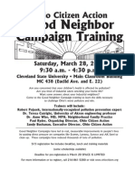 Good Neighbor Training Flyer