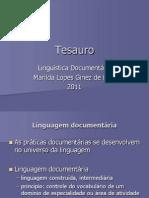 Aula 13 b Tesauro e Terminologia2011