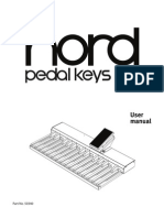 Nord Pedal Keys 27 Owners Manual (Eng.)