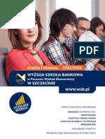 Informator 2013 - studia I stopnia - Wydział Ekonomiczny w Szczecinie Wyższej Szkoły Bankowej w Poznaniu