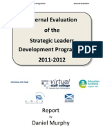 Strategic Leadership Development Programme Evaluation Report