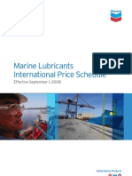 (GMP03) Chevron Marine Lubricants International Price Schedule Sep 1 2008