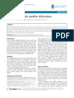 Primary Traumatic Patellar Dislocation