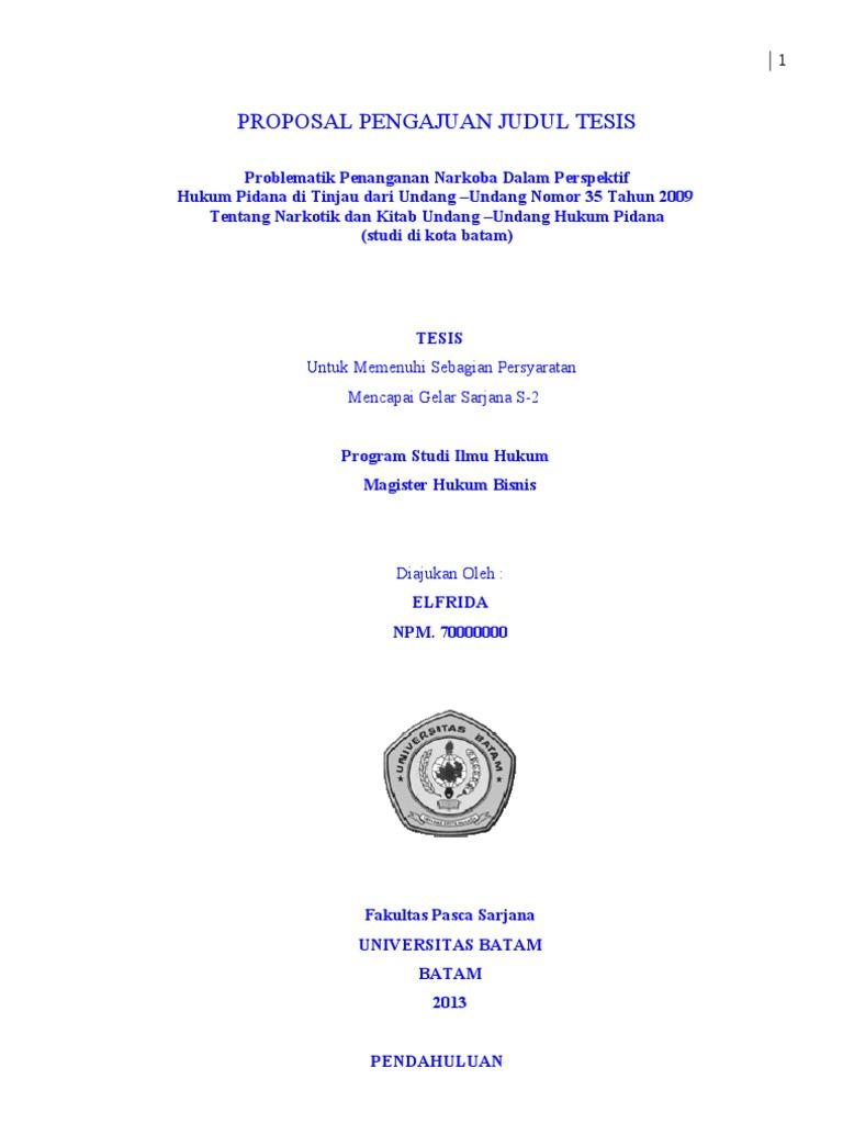Judul Proposal Tesis Hukum Kumpulan Judul Contoh Tesis Administrasi