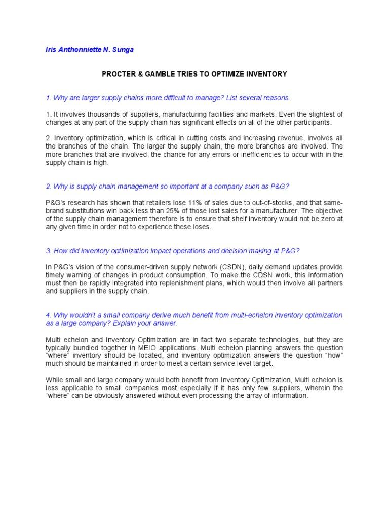 simple vs complex supply chain