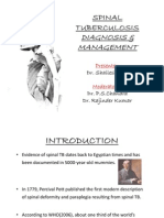 Spinal Tuberculosis Diagnosis and Management