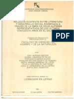 Relación existente entre literatura y desarrollo social examinada a través de la obra de ocho autores representativos de los últimos 50 años en El Salvador
