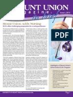 Mount Union Magazine Issue I 2013