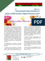 """XXII Concorso di bellezza """"Regina Primavera 2013"""""""
