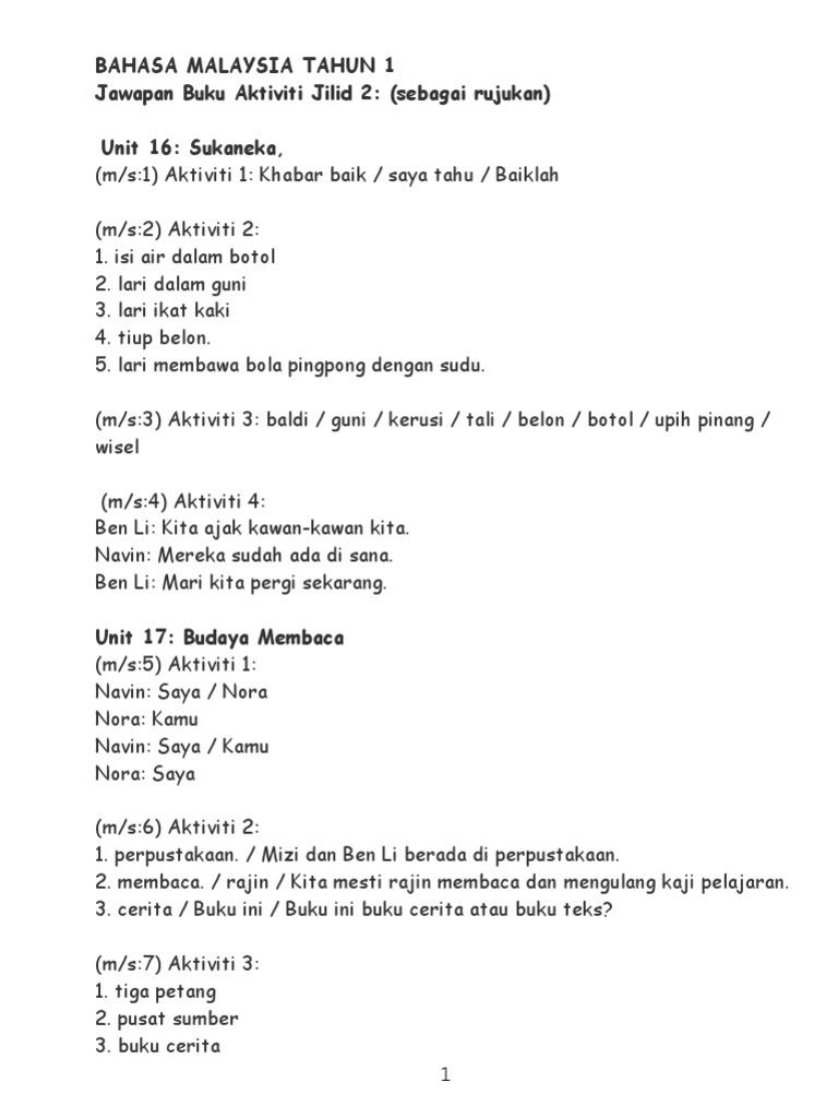 Buku Cerita Bahasa Melayu Tahun 3 Lowongan Kerja