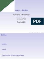Foreach Iterators - Lewis