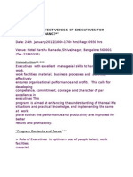Enhancing Effectiveness of Executives for Better Performance