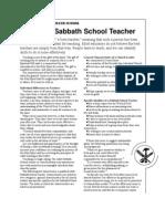 Adult Sabbath School Teacher