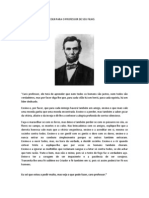Carta de Abraham Lincoln Para o Professor de Seu Filho