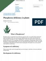 Phosph Deficiency
