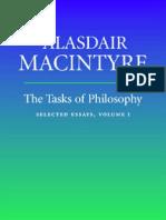 Alasdair MacIntyre - The Tasks of Philosophy, Selected Essays, Vol. I
