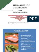 Microsoft Powerpoint - Pembenihan Ikan Lele Dengan Biofloc
