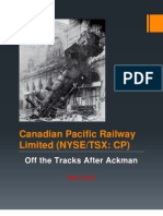 CP Off the Rails After Ackman