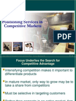 Positioning Services in Compititive Markets