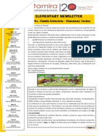 Elementary Newsletter - 3rd Trimester