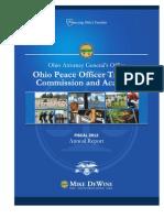 FY 2012 OPOTA Annual Report