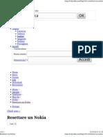Reset Nokia