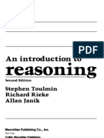Toulmin - An Introduction to Reasoning