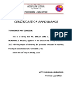 Of appearance certificate of appearance yelopaper Choice Image