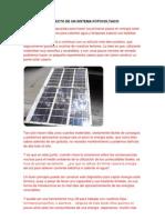 Proyecto de Un Sistema Fotovoltaico