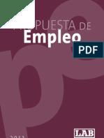 Propuesta de Empleo (2013)