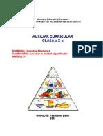 Auxiliar Curricular - Milcu v - Fabricarea Painii Cls X