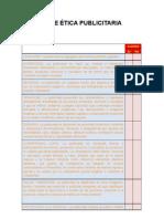 Check list Código de Ética Publicitaria
