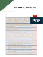 Check List Ley General Para El Control Del Tabaco