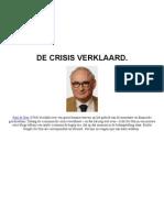 De Crisis Verklaard - Paul de Hen - Elsevier