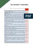 Check List to y Ley Federal de Radio y TV Mar09