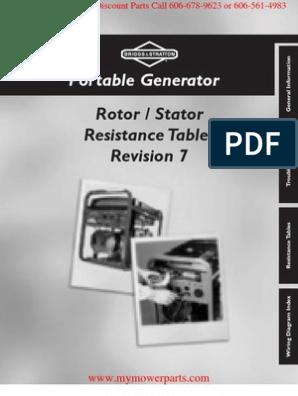Stratton Power 327060 Craftsman Portable Generator Sears Wiring