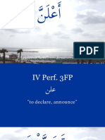Arabic Strong Verb Parsing Exercise