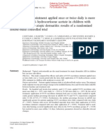 Children and Dermatitis and Tacrolimus and Hydrocortisone