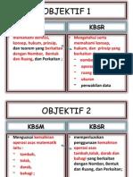 Objektif KBSR KBSM