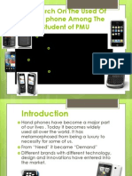 Research on the Used of Handphone