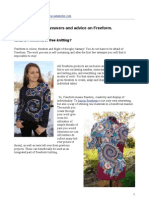 Freeform or free knitting