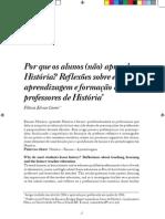 Por que os alunos [não] aprendem história - reflexões sobre ensino aprendizagem e formação de professores