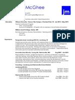 joel mcghee - resume