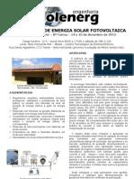 Curso Basico Energia Solar Fotovoltaica BH 14 15 de Dezembro 2012