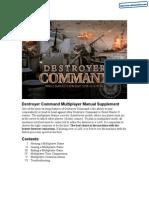 Destroyer Command - Multiplayer Supplement - PC