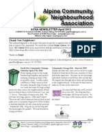 ACNA April 2013 Newsletter