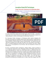 An Innovative Soak Pit to Recharge the Bore Wells